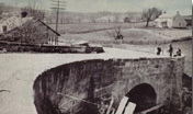 Old National Road bridge, Bridgewater, Ohio, demolished
